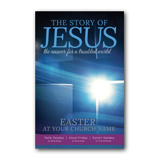 Story of Jesus Cross Postcard