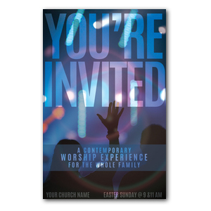 You're Invited Worship Postcards