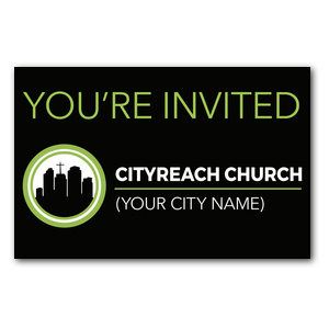 CityReach Black Postcards