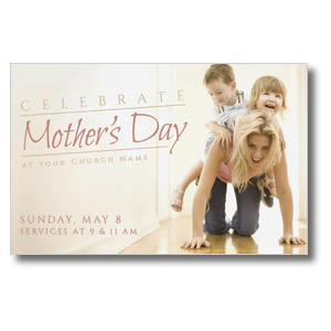 Mother's Day Piggy Back Postcards
