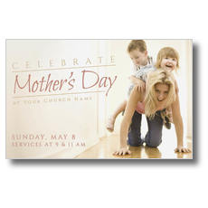 Mother's Day Piggy Back Postcard