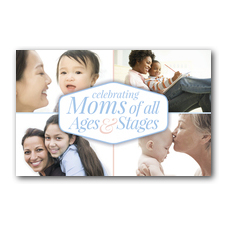 Stages of Motherhood Postcard