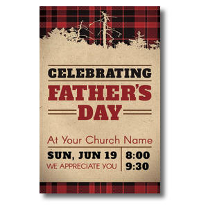 Father's Day Plaid Postcards