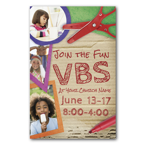 VBS Crafts Church Postcards