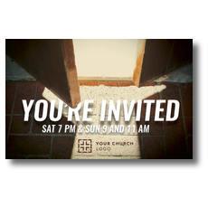 Door Welcome Postcard