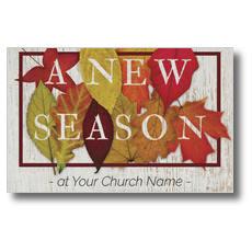 Fall Season Leaves Postcard