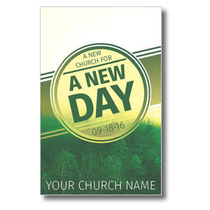 Green New Day Church Postcards