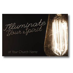 Illuminate Light Bulb Postcards