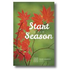 Season Red Leaves Postcard