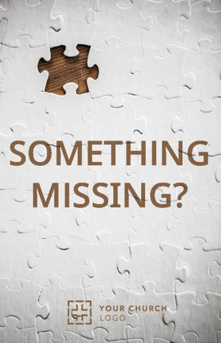 Something Missing Postcard Church Postcards Outreach