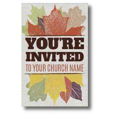 Stamped Leaves Postcard