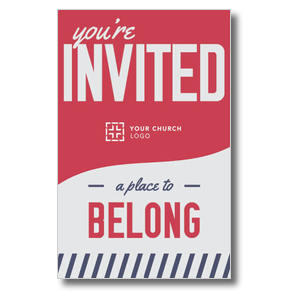 To Belong Red Postcards