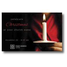 Candlelight Christmas Postcard