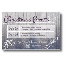 Christmas Events Grid Postcard