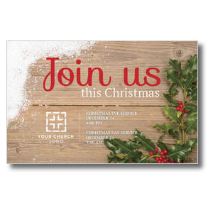 Christmas Holly Postcards