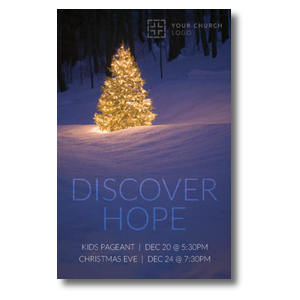 Discover Hope Bright Tree Postcards