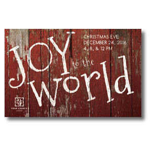 Red Wood Joy Postcards