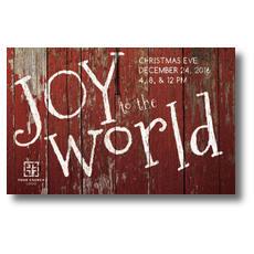 Red Wood Joy Postcard