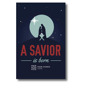 Savior Born Silhouette Postcards