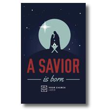 Savior Born Silhouette Postcard