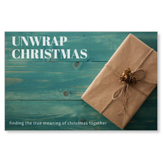 Unwrap Christmas Postcard