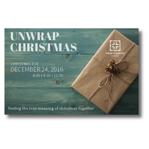 Unwrap Christmas Postcards