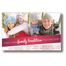 Family Tradition Postcard