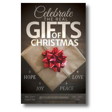 Real Gifts of Christmas Church Postcard
