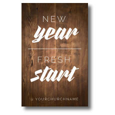 New Year Fresh Start Postcard