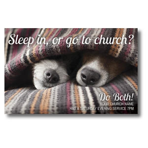 Sleep In Or Church Postcards
