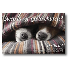 Sleep In Or Church Postcard
