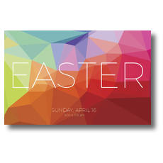 Bright Geometric Easter Postcard