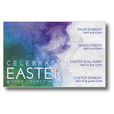 Celebrate Watercolor Easter Postcard