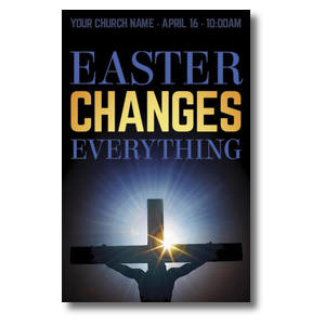 Easter Changes Cross Postcards