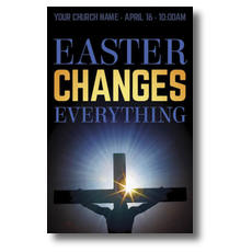 Easter Changes Cross Postcard