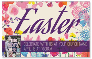 Easter Spring Flowers Postcards