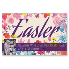 Easter Spring Flowers Postcard