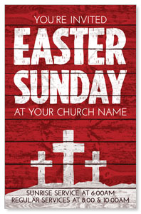 Easter Wood Red Postcards