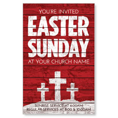 Easter Wood Red Postcard