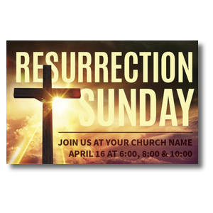Resurrection Sunday Cross Postcards