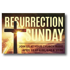 Resurrection Sunday Cross Postcard