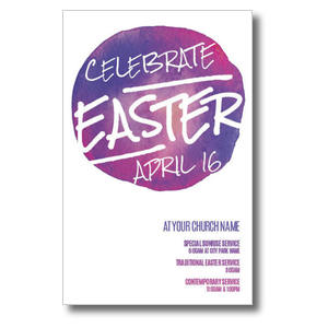 Watercolor Circle Easter Postcards