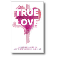 True Love Watercolor Postcard