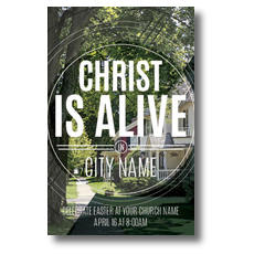 Christ Is Alive Suburban Postcard