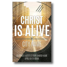 Christ Is Alive Urban Postcard