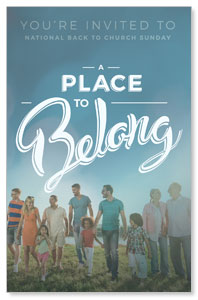 Back to Church Sunday: A Place to Belong DIY Postcard Packs