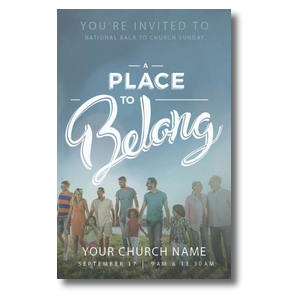 Back to Church Sunday: A Place to Belong Postcards