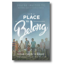 Back to Church Sunday: A Place to Belong Church Postcard
