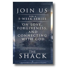 The Shack Movie Blue Postcard