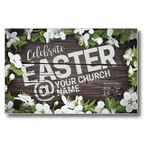 Easter At Flower Border Postcards